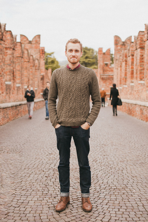 October 20, 2011. Verona, Italy. Sweater: Topman - $60Shirt: Club Monaco - $40Jeans: Doctrine Denim - c/o Doctrine DenimBoots: Topman - $100 (similar)Watch: K-Mart - $11   View on: Lookbook.nu | Chictopia