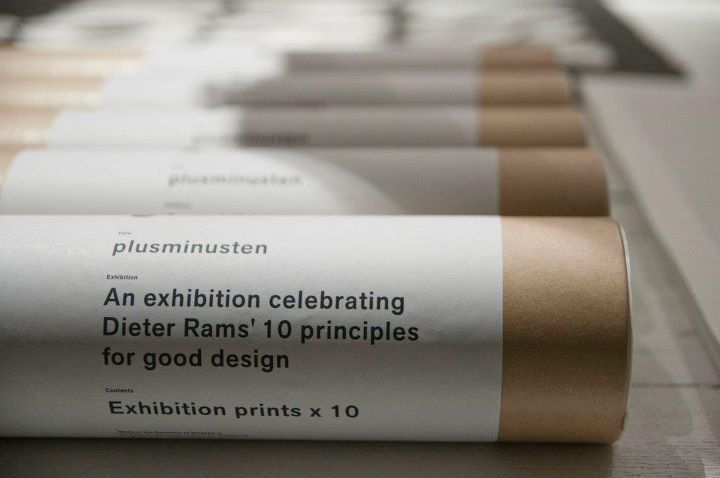 Dieter Rams' Exhibition prints.. in tubes.