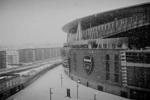 stadium-love-:  Snow Day by tifiDonnie Emirates Stadium: Home ground of Arsenal F.C.