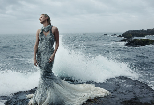 Charlize Theron Photographed by Annie Leibovitz for the December Issue of Vogue