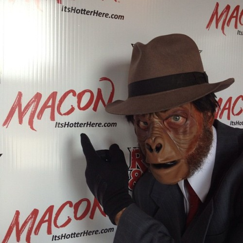 Anthony Harris is ready to monkey around at Rock&Reel (Taken with Instagram at SoChi Gallery)