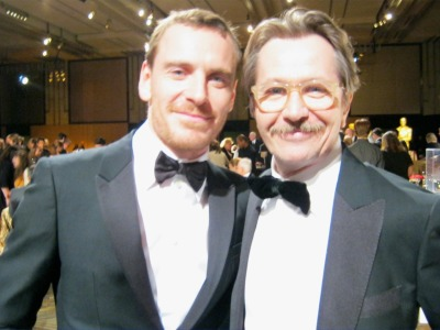 OTP !!!  werafterthesamerainbowsend:  Gary Oldman & Micheal Fassbender at the Academy of Motion Picture Arts and Sciences' 2011 Governors Awards