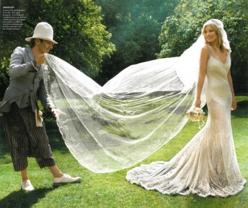 That dress! Kate Moss and John Galliano in Vogue.  Photographed by Mario Testino.