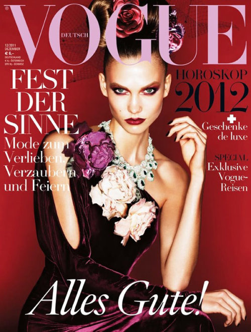 fashiongonerogue:  (via Karlie Kloss Covers Vogue Germany December 2011 in Ralph Lauren)