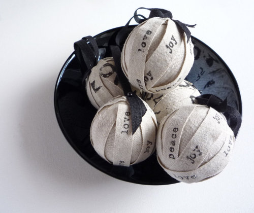 Tree Ornament Industrial Modern Rag Ball Christmas Ornaments Original Design