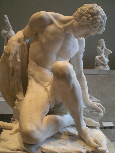 welovesculptures:    Louvre marble - The Dying Gladiator Pierre Julien ,1779