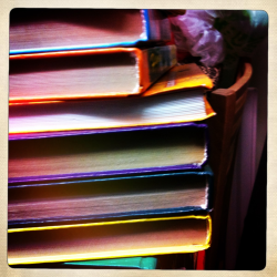 Colourful books  London, November 14th 2011