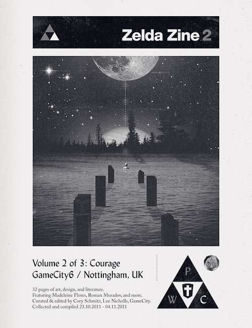 Cover for Zelda Zine #2, designed by Cory Schmitz. Featuring submitted artwork from Madeline Flores, Roman Muradov and others.