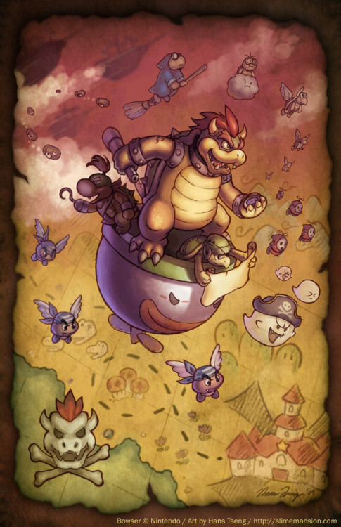 it8bit:  Koopa Armada - by Hans Tseng Website | deviantART
