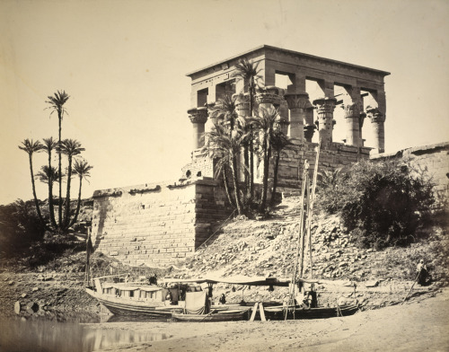 Francis Frith. The Hypaethral Temple, Philae. 1857