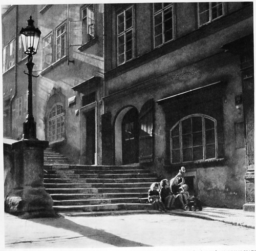 Josef Šebesta. Old Castle Steps in Prague, 1930s