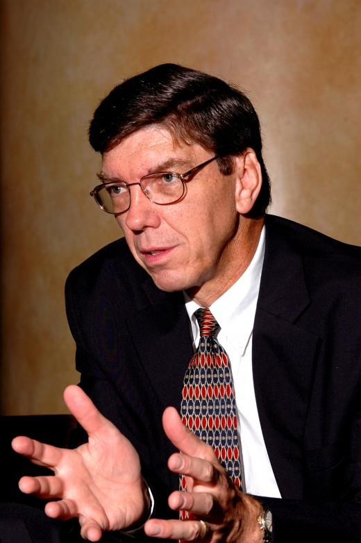 Clayton Christensen on disruption in online education | The Next Web Earlier this year we discussed how the Internet is revolutionizing education and  featured several companies and organizations that are disrupting the  online education space including Open Yale, Open Culture, Khan  Academy, Academic Earth, P2PU, Skillshare, Scitable and Skype in the  Classroom. The Internet has changed how we interact with Time. We can be  learning all the time now, whenever we want, and wherever we want. And  because of that, we're seeing explosive growth in online education. In October, Knewton, an education technology startup, raised $33 million in its 4th round of funding to roll out its adaptive online learning platform. In early November, Khan Academy,  an online collection featuring over 2,100 educational videos ranging in  intensity from 1+1=2 to college level calculus and physics, snagged $5 million in funding to add two new faculty members that will create lectures for humanities and art-intensive classes. According to the 2010 Sloan Survey of Online Learning,  approximately 5.6 million students took at least one web-based class  during the fall 2009 semester, which marked a 21% growth from the  previous year. The Harvard Business School Review points out that this figure is up from 45,000 in 2000 and experts predict that online education could reach 14 million in 2014.