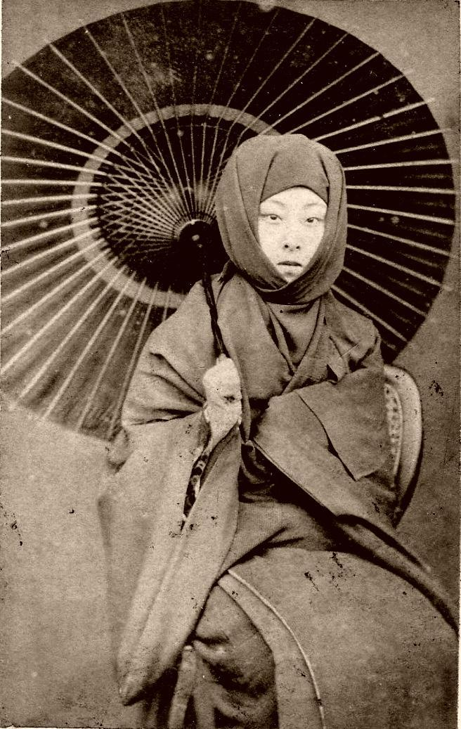 birdsong27:  oblighetto: Geiko Kayo - in Winter Dress 1870s