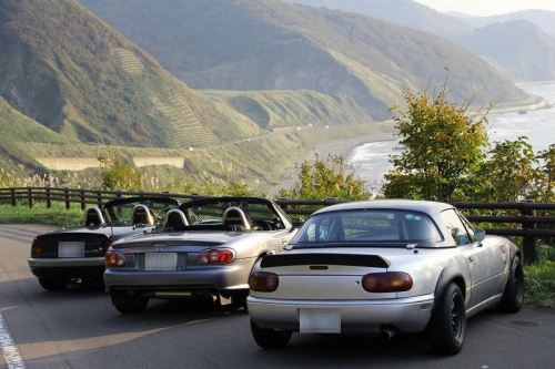 A popular coast road destination for Roadster owners in Japan.