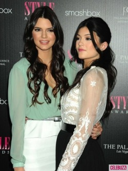 Kendall Jenner and Kylie Jenner at the 2011  Hollywood Style Awards