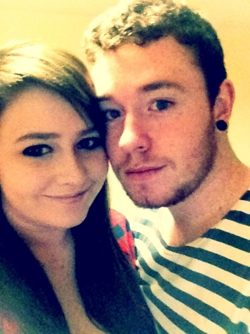 nattttttaliexxx:  me and my lovely boy :)                She makes me like this > :D