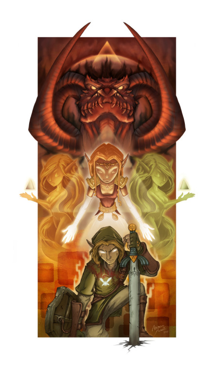 assorted-goodness:  Zelda 25th Anniversary by Aaron Kasten. DeviantART // Website