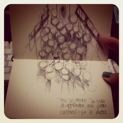 Metro #moleskine (Taken with instagram)