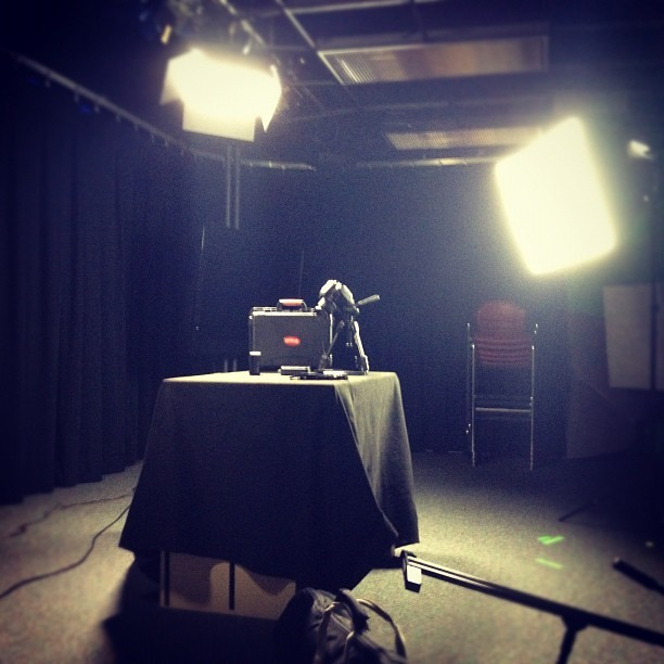 Shooting in studio  (Taken with instagram)