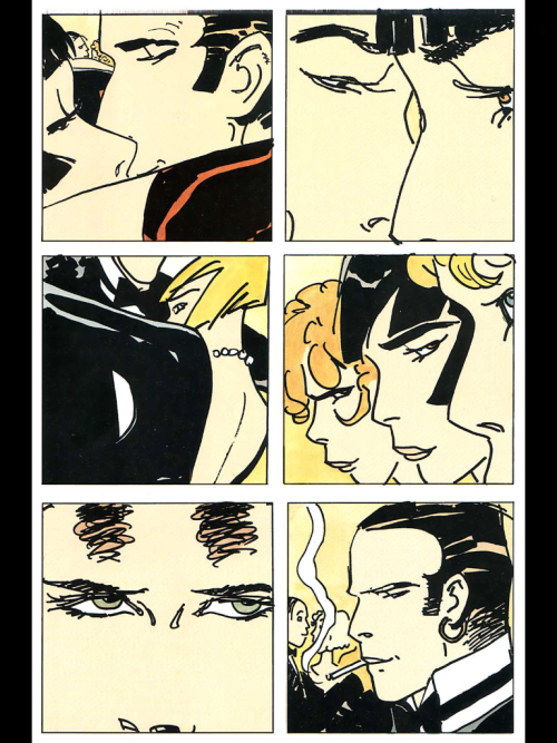 cortomal:    Corto Maltese: Tango, 5/7 An excerpt from the Casterman edition of 'Tango' This excerpt will be a bit different than the previous ones, as I choose a more random selection of my favorite parts from the story. If the storytelling seems off, it is merely due to the choices of the curator, not the artist.