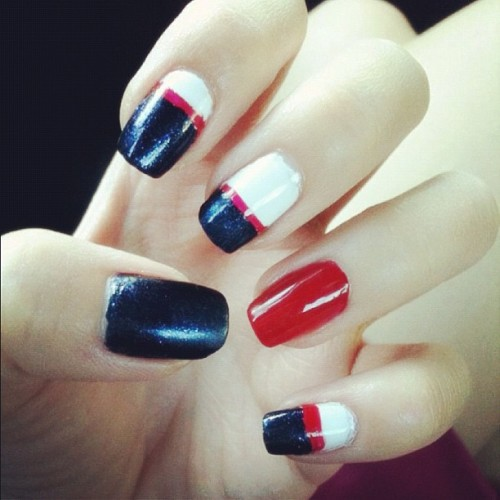 Nail art of the week - nautical theme!