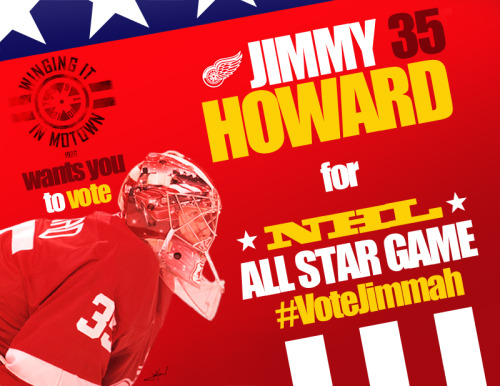 Write in Jimmy Howard! Absurd that he isn't on the ballot. Vote here.