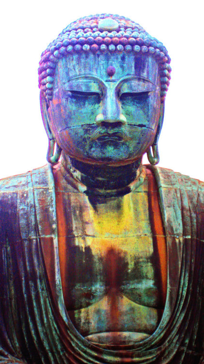 "Buddha..a symbol of simple peace. People should stop bashing the ""stupid Hippies"" there's some truth behind all the messy hair and weed scented clothing."