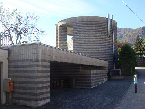 http://www.flickr.com/photos/artemedium/4071745730/  House, Ticino, by Mario Botta