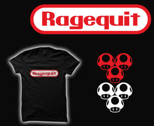 "Ragequit | Tshirt Contest by Buzatron This week's theme: ""slogans""Now up for voting at Tshirt Contestlog in, create an account, and vote to see it in print for $10 :DFollow Buzatron here: twitter 