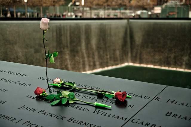 South Reflecting Pool at National September 11 Memorial on Flickr.