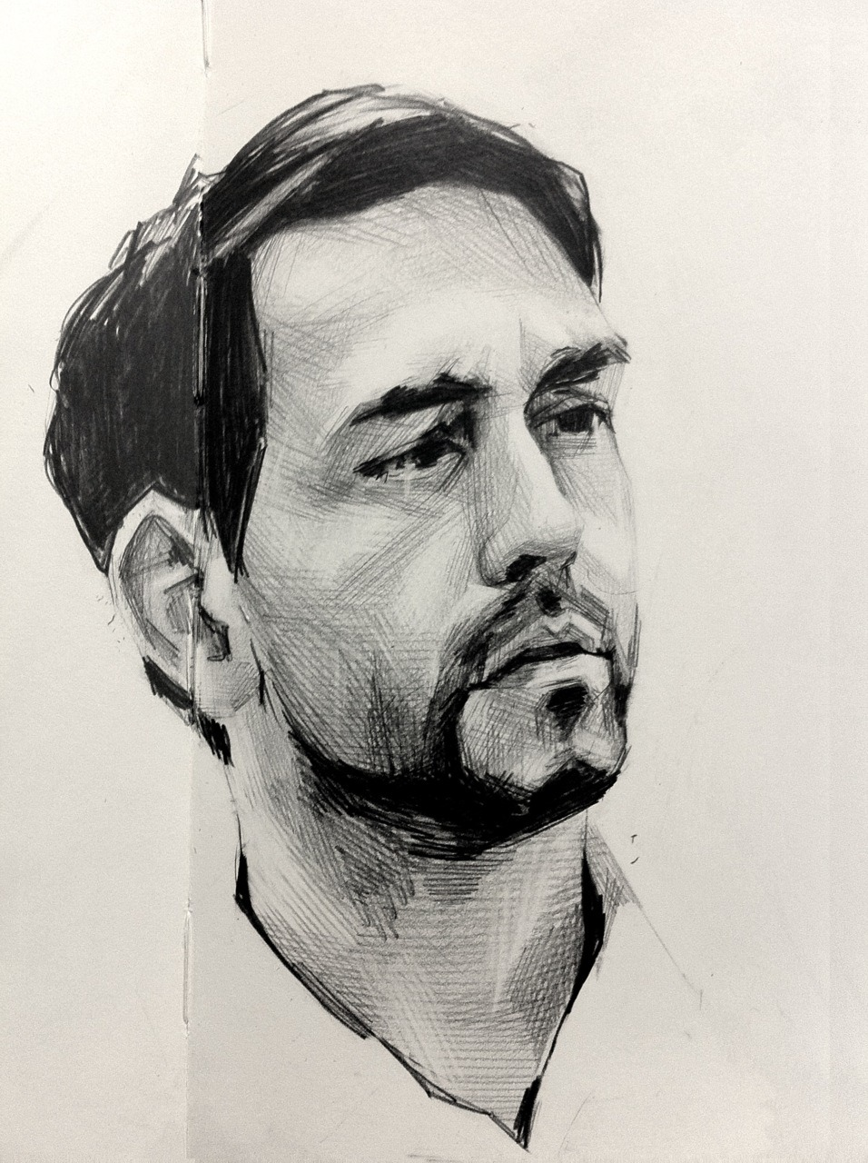 malloryroseart:  moleskine portrait study i did of my friend/artist michael harnish MIKES TUMBLR