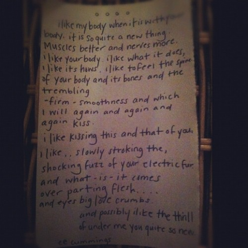 dareyoubambi:  My roommate is a romantic.  (Taken with instagram)   I then folded this into a tiny envelope and sealed it with wax.