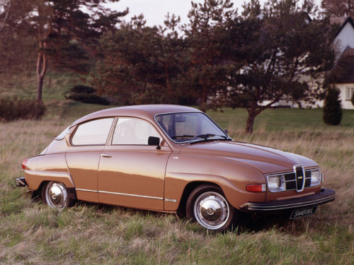 "Saab 96  For a long time, a Saab was a kind of mirror-universe Volkswagen Beetle. Where the KdF-Wagen is portrayed as springing fully formed from Herr Doktor Porsche's head, the Saab was the product of a bunch of aircraft engineers working collectively. Where the VW infamously eschewed safety in favour of packaging efficiency, the Saab had safety at the core.  When Saab moved on from the 96 to the bigger, more luxurious 99, it was seen as a retrograde move by the faithful. ""Too conventional"", they said. ""Not a proper Saab,"" they said.  Plus ça change, plus c'est la même chose.  /via Motoring Con Brio's grab-bag this week. I got this bigger version of the photo from Autorama 70."