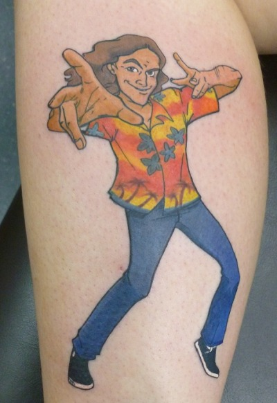 our customer today got this wicked weird al yankovic tattoo tattoo by David Williams www.facebook.com/bodycanvastattoo