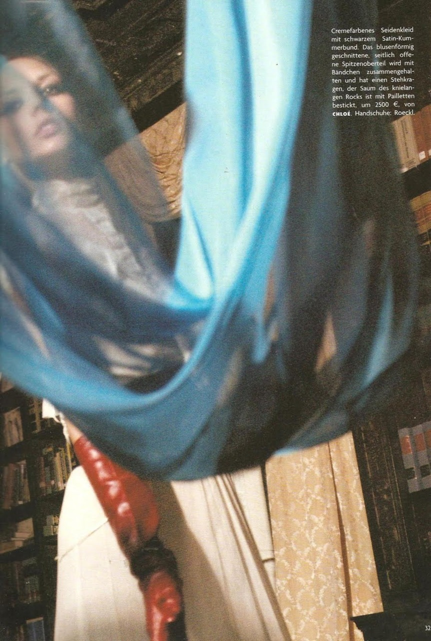 Vogue Germany October 2005 photographed by Salim Langatta.