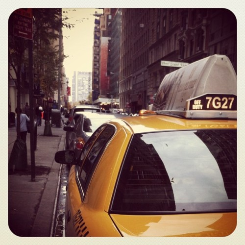 NYC cab (Taken with instagram)