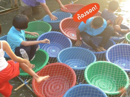 Another Improvised Boat made of Plastic Tubs via Message/Facebook submitted by Siriwat