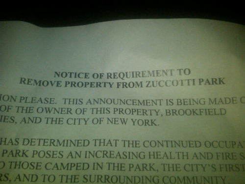 Here's what the eviction flyer looks like. Looks like it was put together in 20 minutes in Word. Totally unprofessional. (via EmilyPhanNgo of Newsday)