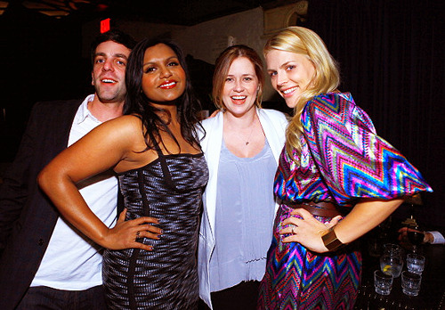 B.J. Novak, Mindy Kaling, Busy Philipps, and Jenna Fischer attends Glamour's Cindi Leive Toasts Mindy Kaling And Her Book 'Is Everyone Hanging Out Without Me? (And Other Concerns)' on November 14, 2011 in Hollywood, California