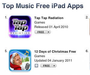 KwiqApps Music App on UK Chart