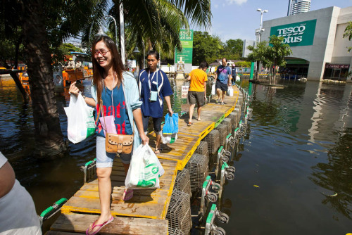 A Better Picture of the Shopping Cart Walkway (Credit AFP | Getty Images)