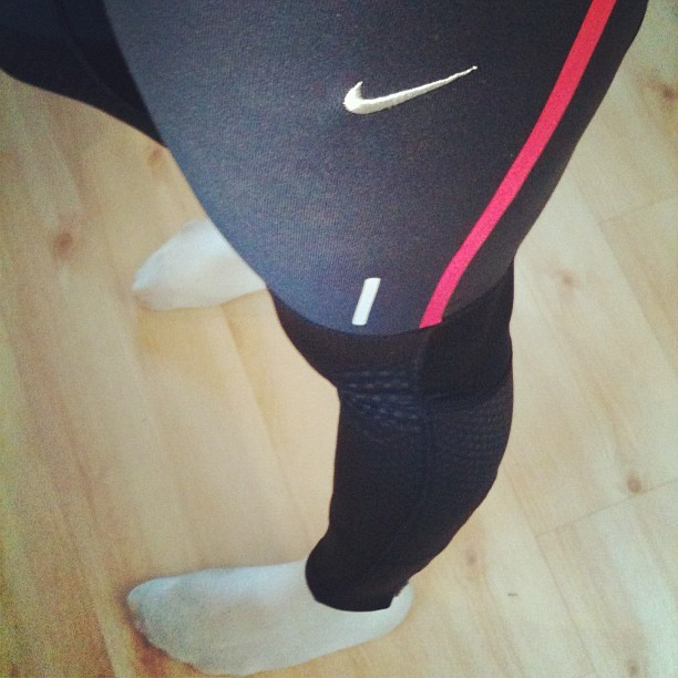 New pants from Nike! Amazingly comfortable and warm. Tried out our new elliptical as well and it's amazing! Such a good workout, 20 minutes before breakfast and I feel like myself again. Though the incline was crazy tough and the calorie count was kind of cheap (70kcal under 20 minutes? Does that seem right? The ones on the gym would have said 200kcal or something?) it's really good. I hated my stationary bike, it hurt me, it was broken, no good size for me and just so boring. This new friend of mine has programs, personal settings and a fun display! My new buddy<3