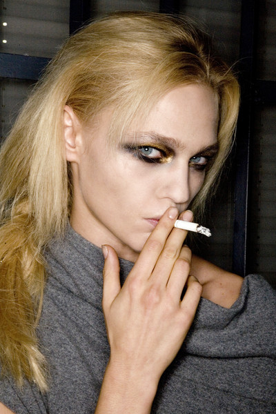 Pro-smoking campaign backstage at Prada Spring 2008