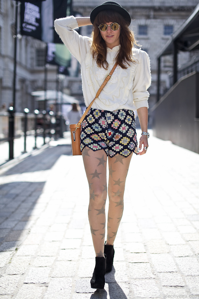 via http://leeoliveira.com Crochet Shorts at London Fashion Week