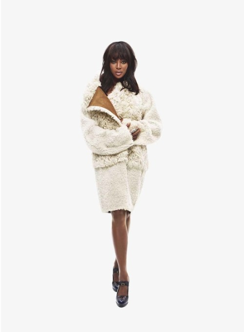 "Naomi Campbell in Fendi Carine on Naomi:""I met Naomi 25 years ago at the beginning of her career and worked with her often. She is of course a legendary model and an icon, but one thing that people don't know about her is that she has a very big heart."""