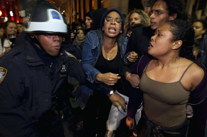 Police break up New York 'Occupy' camp| Police arrest 70 demonstrators, as they dismantle the camp that has become a focal point for anti-Wall Street protests.