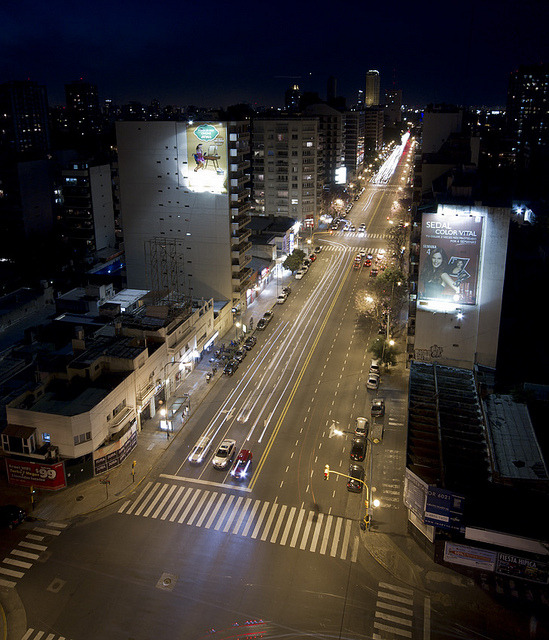 City Lights by Bruno Belcastro on Flickr.Via Flickr: Libertador Ave. - Buenos Aires