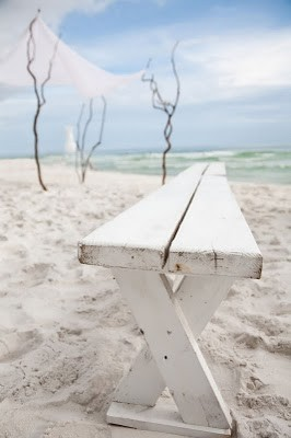 Seating for a romantic beach wedding (via w e d d i n g / FrenchBlue)