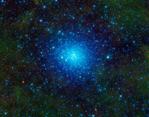 Omega Centauri, also known as NGC 5139, is celestial cluster of stars that can be found in the constellation Centaurus. Omega Centauri contains approximately 10 million stars and is about 16,000 light-years away.