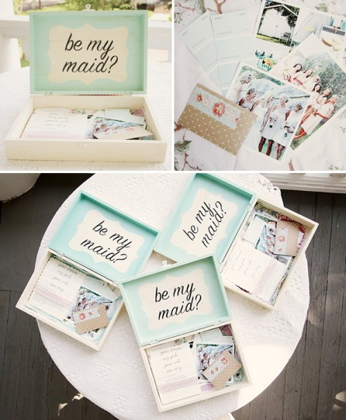 Cute way to ask your friends to be bridesmaids :)